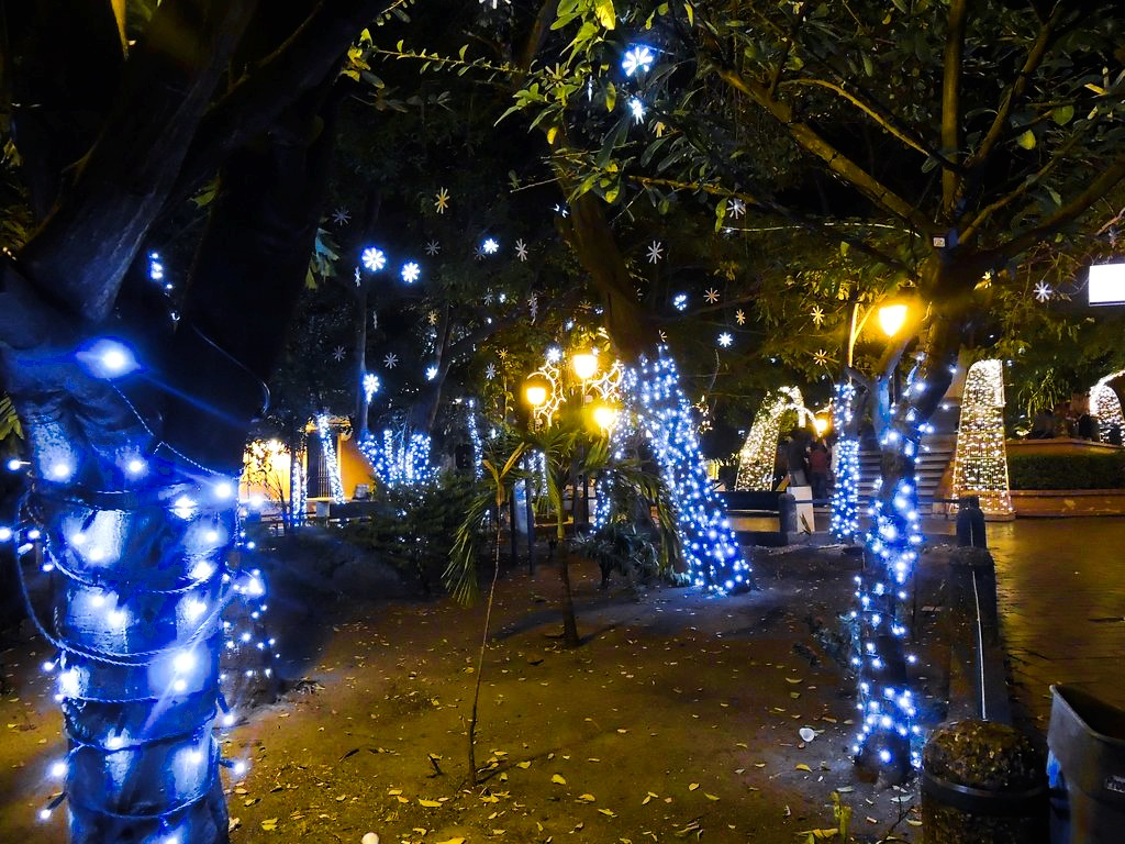 Parquecito decorado en Cartagena