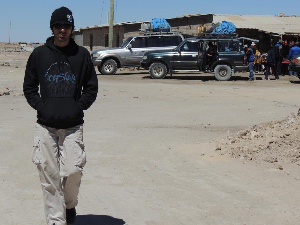 En Colchani, junto al Salar de Uyuni, Bolivia