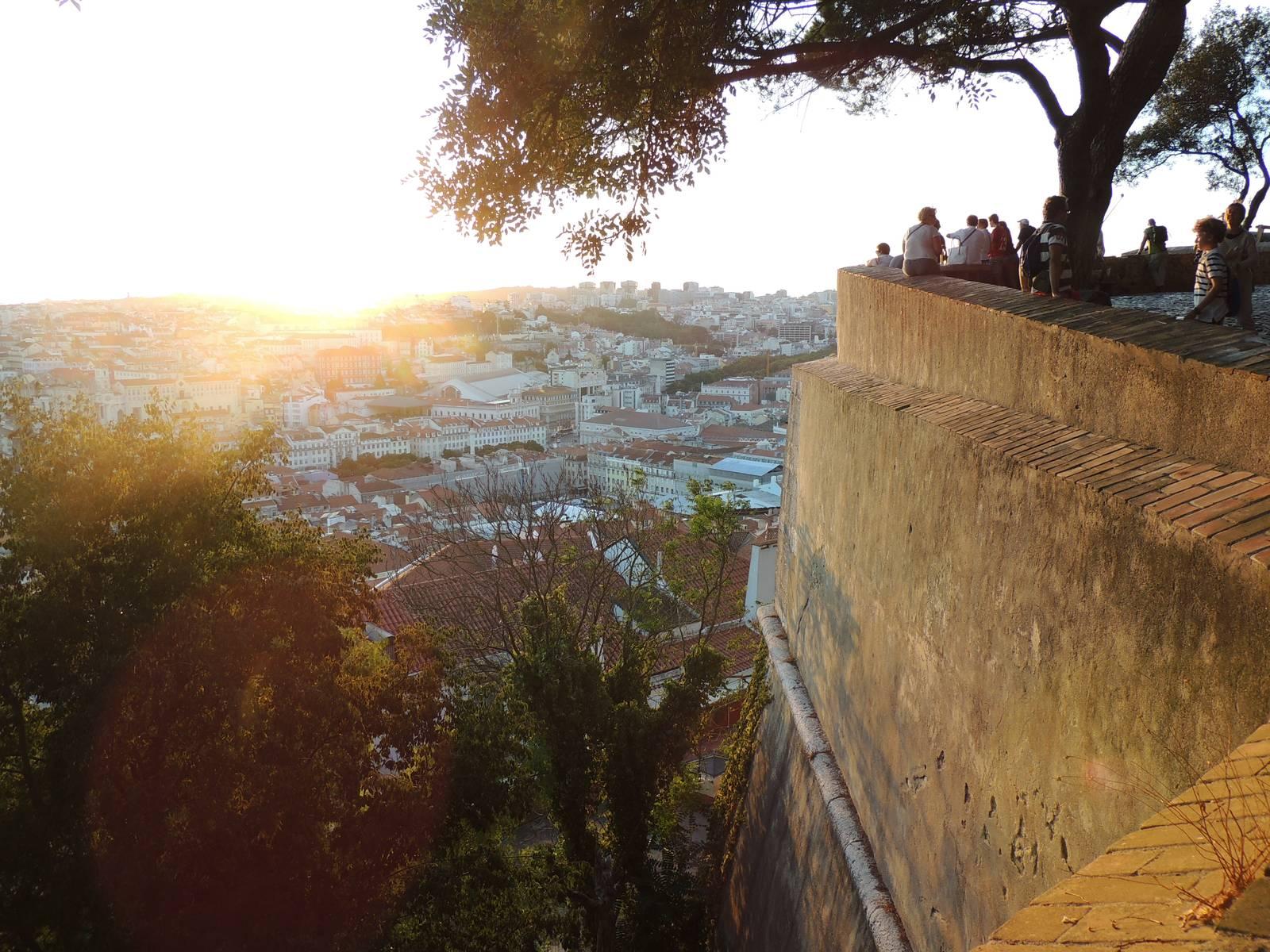 Atardecer en el Castelo de São Jorge
